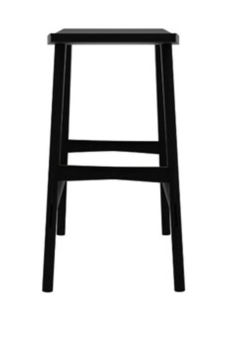 osso black varnished oak counter stool