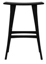 osso black varnished oak bar stool