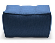 ethnicraft n701 sofa footstool - blue, W 28"