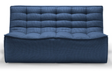 blue 2 seater sectional sofa