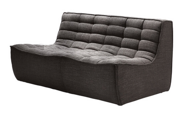 dark grey 2 seater sectional sofa