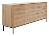ethnicraft oak whitebird sideboard, 2 doors - 3 doors