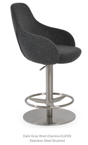 cite gl arm chair - piston stool