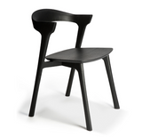 ethnicraft black stained oak bok dining chair
