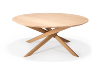 ethnicraft mikado oak oval coffee table