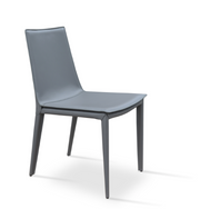 ty side chair - grey bonded leather
