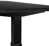 ethnicraft oak bok black varnished oak top for adjustable desk, L 55"