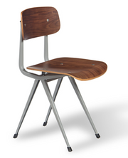 cite pi dining chair, walnut finish, black frame, W 20"