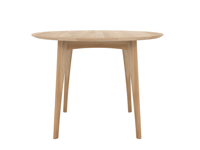 ethnicraft oak orso round table, high, ø 47"