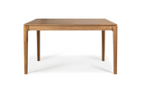 ethnicraft teak bok extendable dining table, L 55/87"