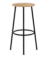 ethnicraft oak baretto bar stool, D 23"