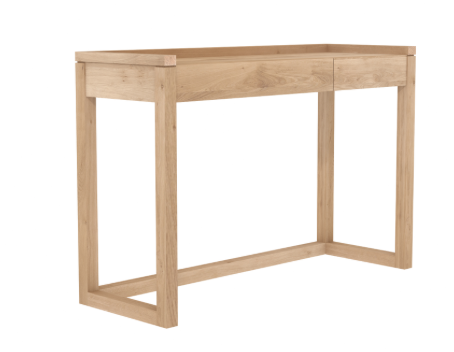 ethnicraft oak frame desk