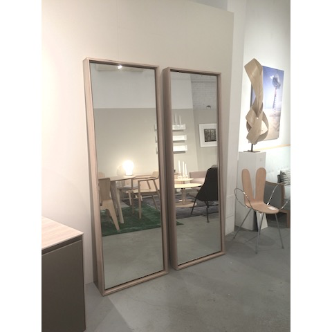 cecchini sci mirror, stained zebra wood