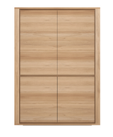 ethnicraft oak shadow storage cupboard - 4 doors, L 45"