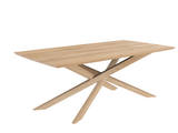 ethnicraft oak mikado dining table, rectangle, L 94"