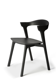 ethnicraft black varnished bok dining chair, L 20"