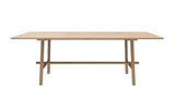 ethnicraft oak profile dining table, varnished, L 79"