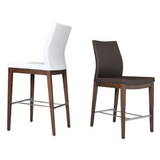 cite pa wood stool, high backrest