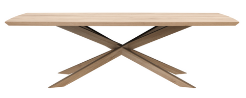 ethnicraft oak mikado rectangle coffee table, L 56"