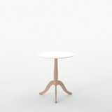 maruni club side table, corian top