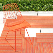 chilewich skinny stripe shag indoor/outdoor mat