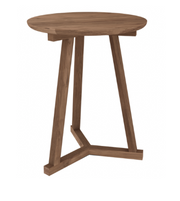 ethnicraft teak tripod side table, Ø 18"