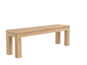 ethnicraft oak straight bench, L 63"
