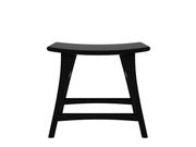 ethnicraft contract/ commercial oak osso stool, low, black varnished, L 20"