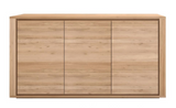 ethnicraft oak shadow sideboard - 3 doors, L 61"