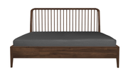 ethnicraft walnut spindle bed - with slats - US queen size - varnished, L 64"