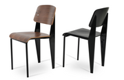 cite pe dining chair, walnut finish, black frame, W 17"