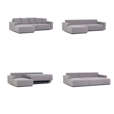 prostoria combo sofa bed with storage