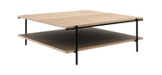 ethnicraft oak rise coffee table - varnished, L 39"
