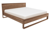 ethnicraft teak nordic II bed, with slats, us queen, L 70"