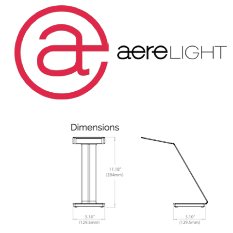 aerelight a1 desk lamp, silver