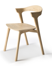 ethnicraft oak bok dining chair, L 20"