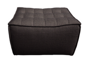 ethnicraft n701 sofa, footstool, dark grey, W 28"