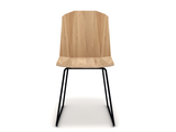 ethnicraft oak facette dining chair, finish: oiled, L 17"