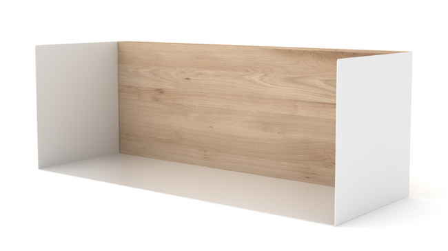 ethnicraft oak U shelf, medium, white, W 22"