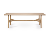 ethnicraft oak profile dining table, varnished, L 87"