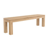 ethnicraft oak straight bench, L 71"