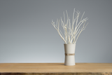 "@aroma, ""aroma branch"" vase, tokoname, light grey"