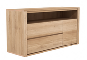 ethnicraft oak shadow chest of drawers, 3 drawers - W 51"