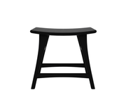 ethnicraft oak osso stool, low, black varnished, L 20"