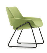 prostoria monk metal lounge chair
