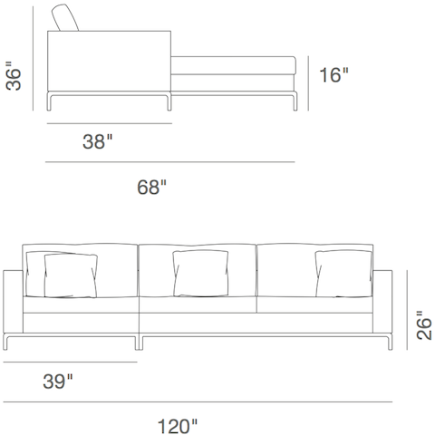 cite sa sectional sofa