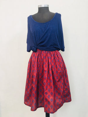 Ruffle Skirt in Forget Me Nots