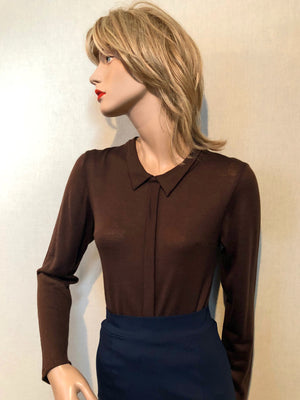 Jetson Knit Shirt in Always Under-rated Brown