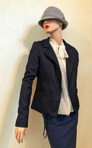 Pearse Jacket in Navy Suiting