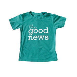 the good news • kids tee (teal)